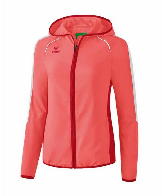 Erima Damen Pr?sentationsjacke Masters Hot Coral/Cherry | 164